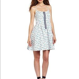Lilly Pulitzer White Oh Buoy Print Casual Dress